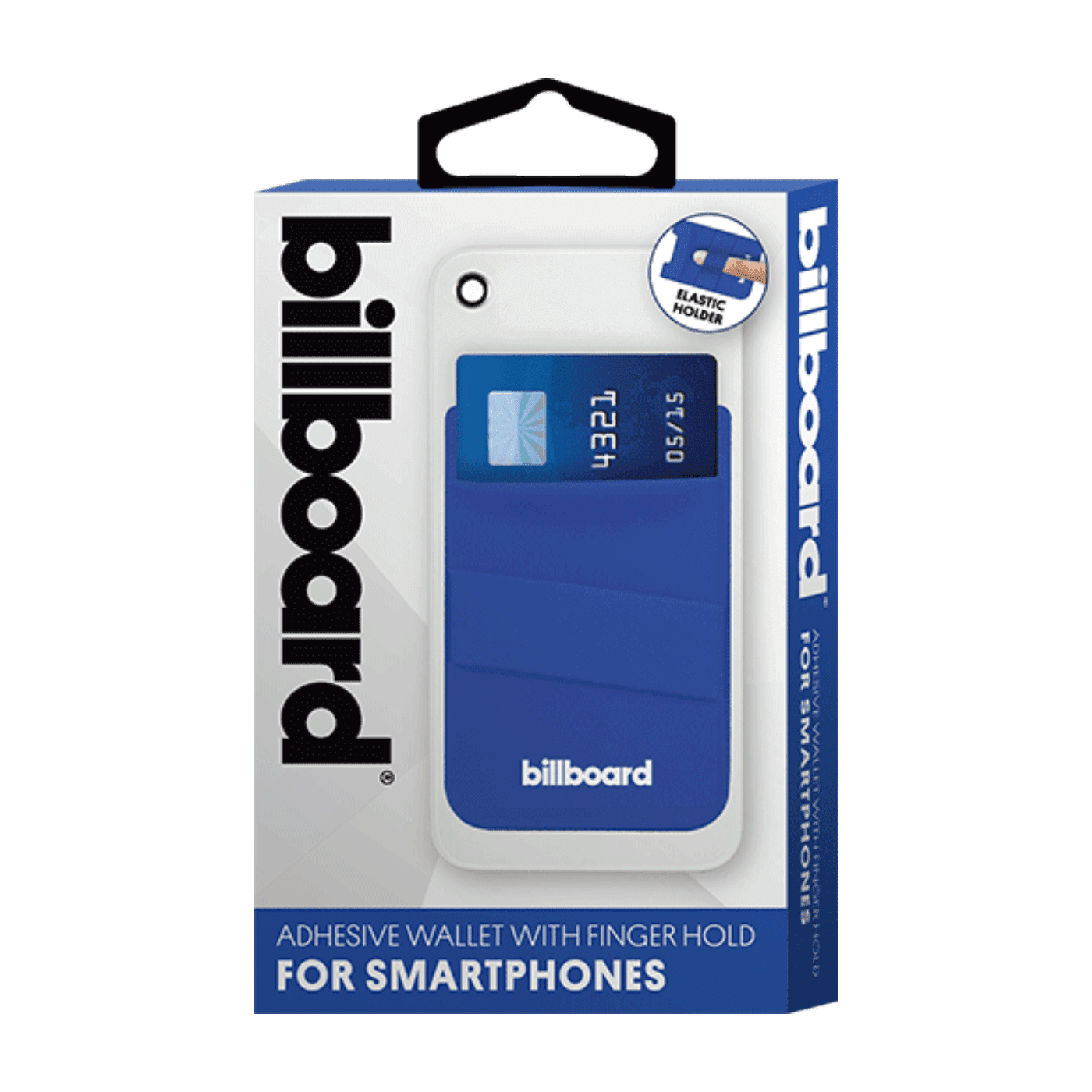 Billboard Adhesive Wallet/ Card Holder For Smartphones Blue