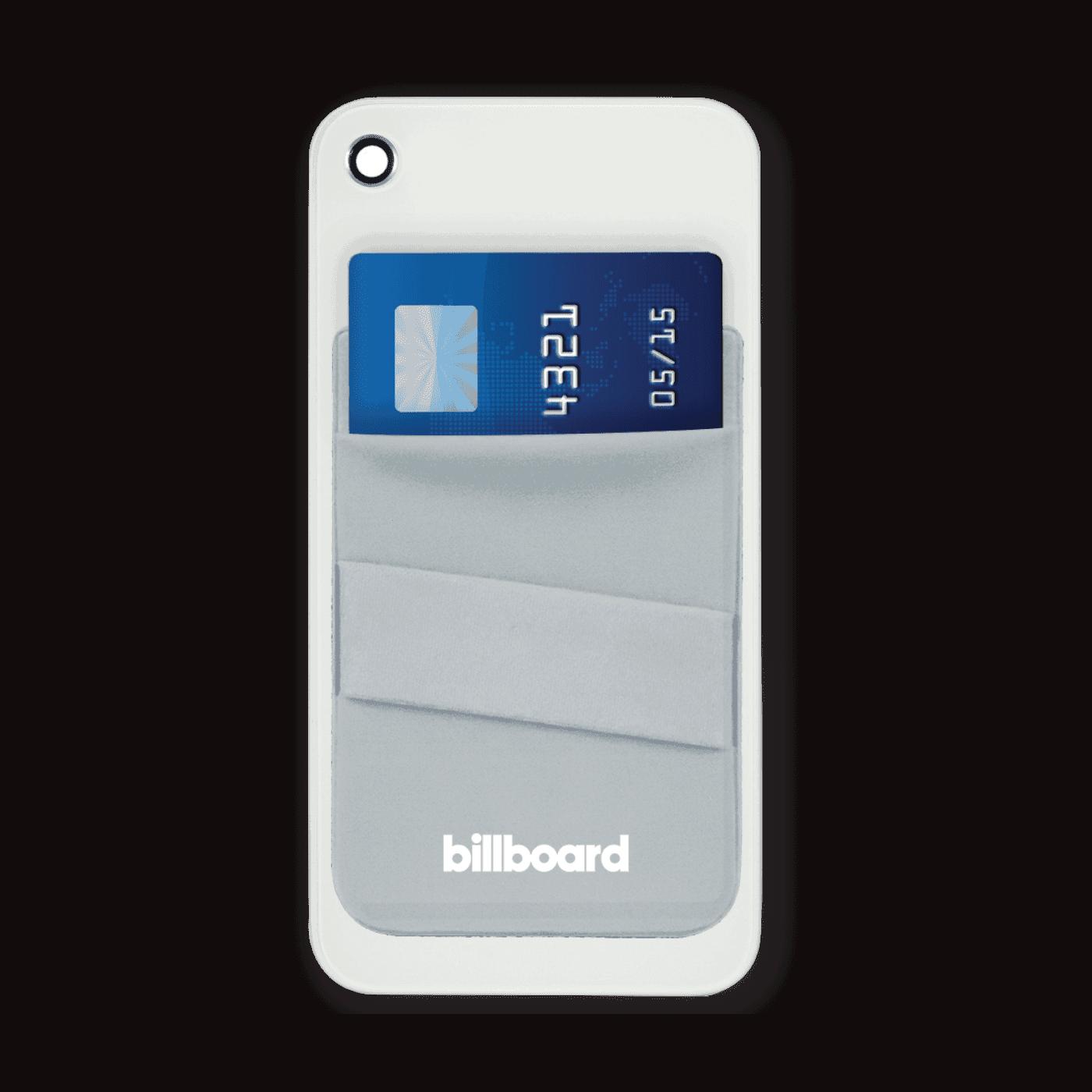Billboard Adhesive Wallet/ Card Holder For Smartphones Gray