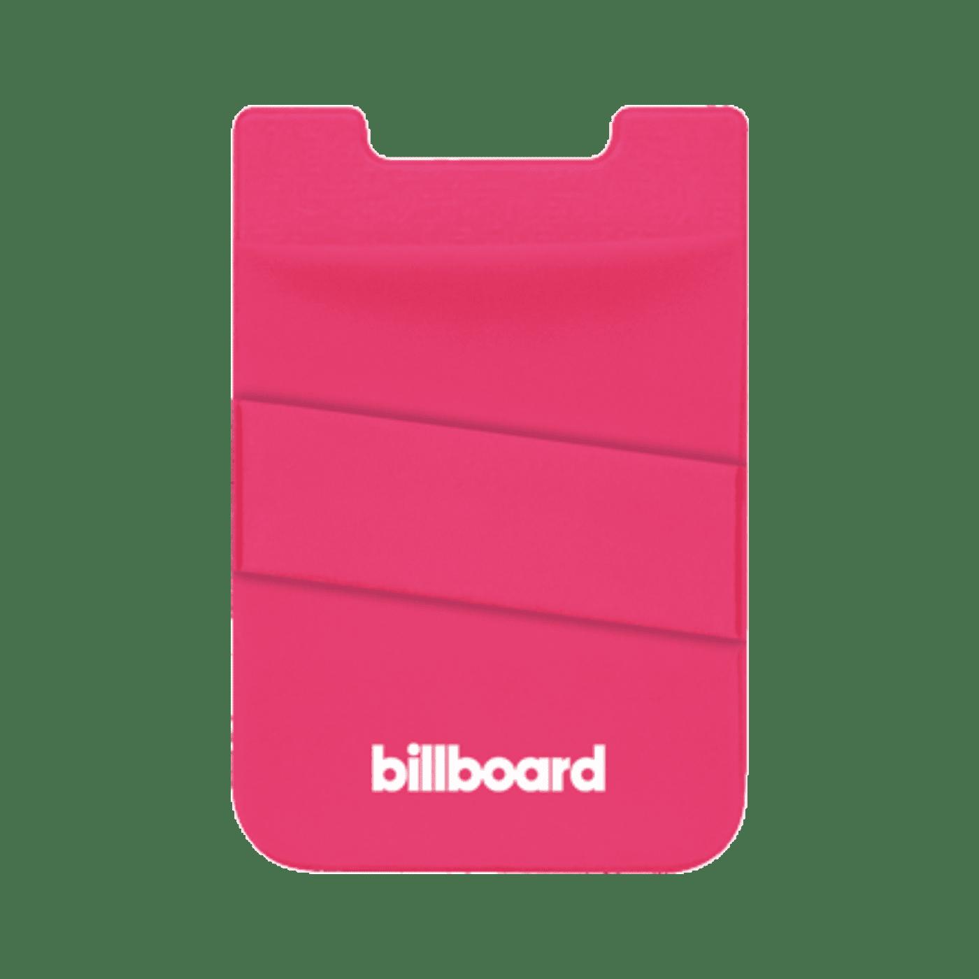 Billboard Adhesive Wallet/ Card Holder For Smartphones Pink