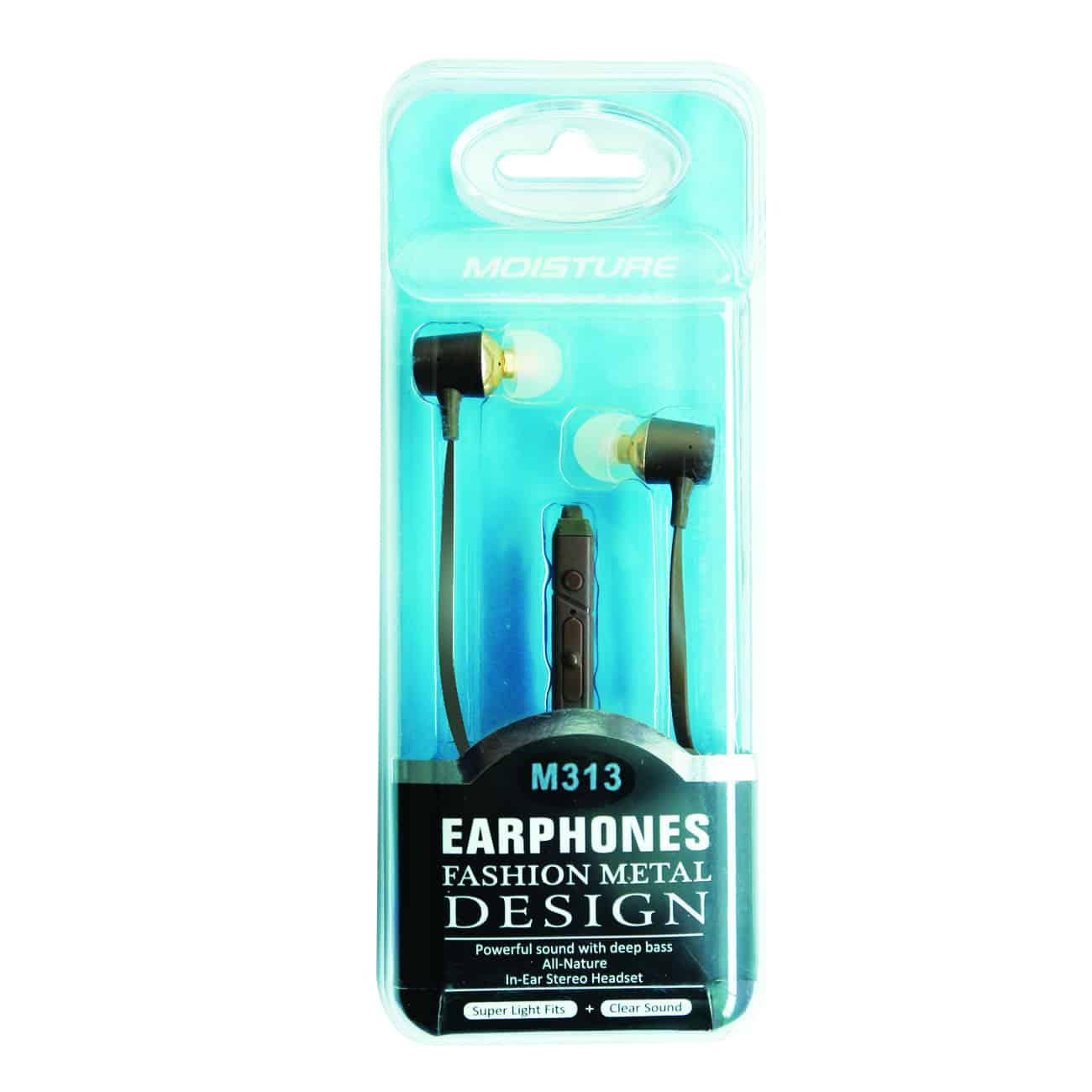 Fashion Metal In-ear headphones in Brown