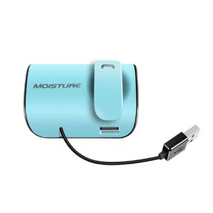 Moisture MT-B20 Bluetooth Earphones With Charger Adapter For Car In Blue