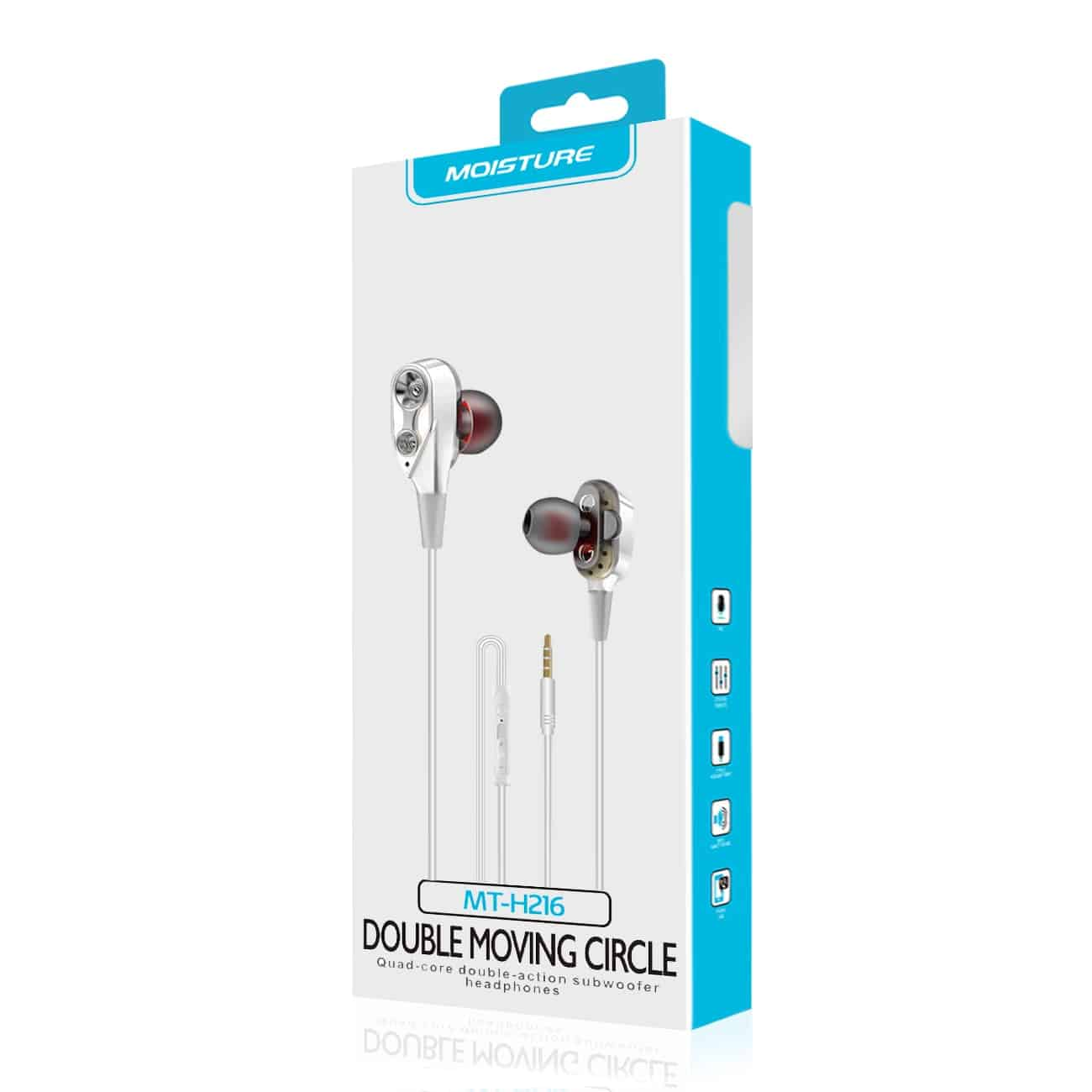 Moisture MT-H216 Earphones In White