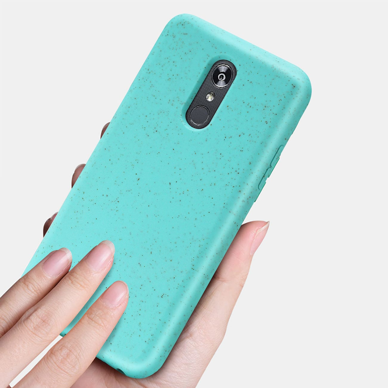 ISTIK LG STYLO 5 Wheat Bran Material Silicone Phone Case In Blue