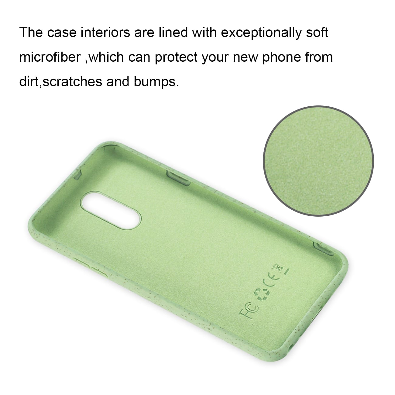 ISTIK LG STYLO 5 Wheat Bran Material Silicone Phone Case In Green