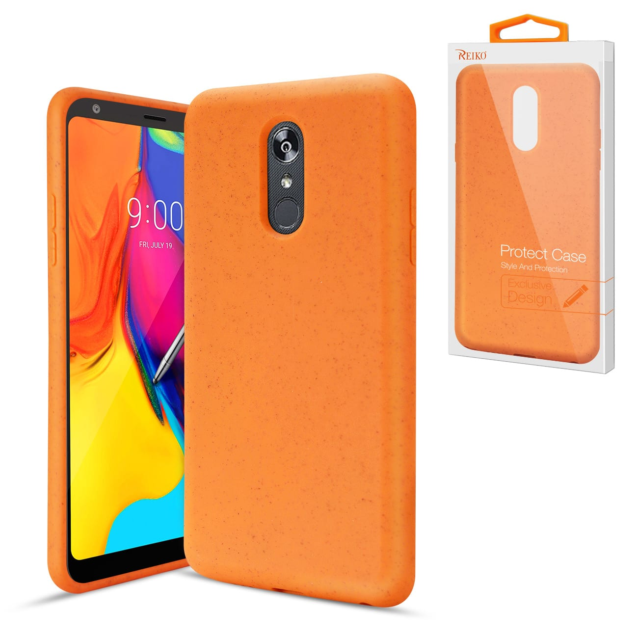ISTIK LG STYLO 5 Wheat Bran Material Silicone Phone Case In Orange