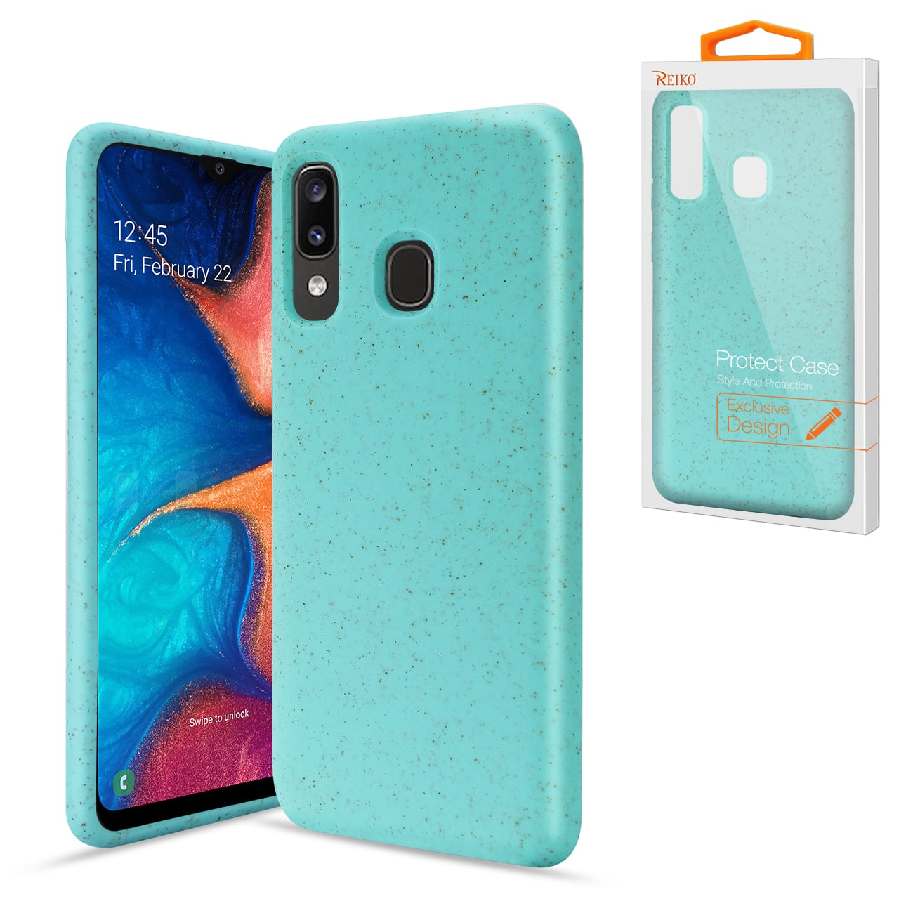 ISTIK SAMSUNG GALAXY A20 Wheat Bran Material Silicone Phone Case In Blue