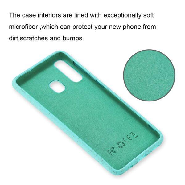 ISTIK SAMSUNG GALAXY A20 Wheat Bran Material Silicone Phone Case In Blue