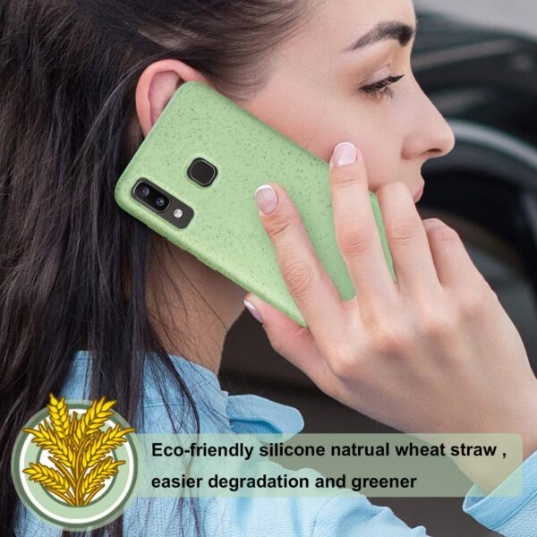 ISTIK SAMSUNG GALAXY A20 Wheat Bran Material Silicone Phone Case In Green
