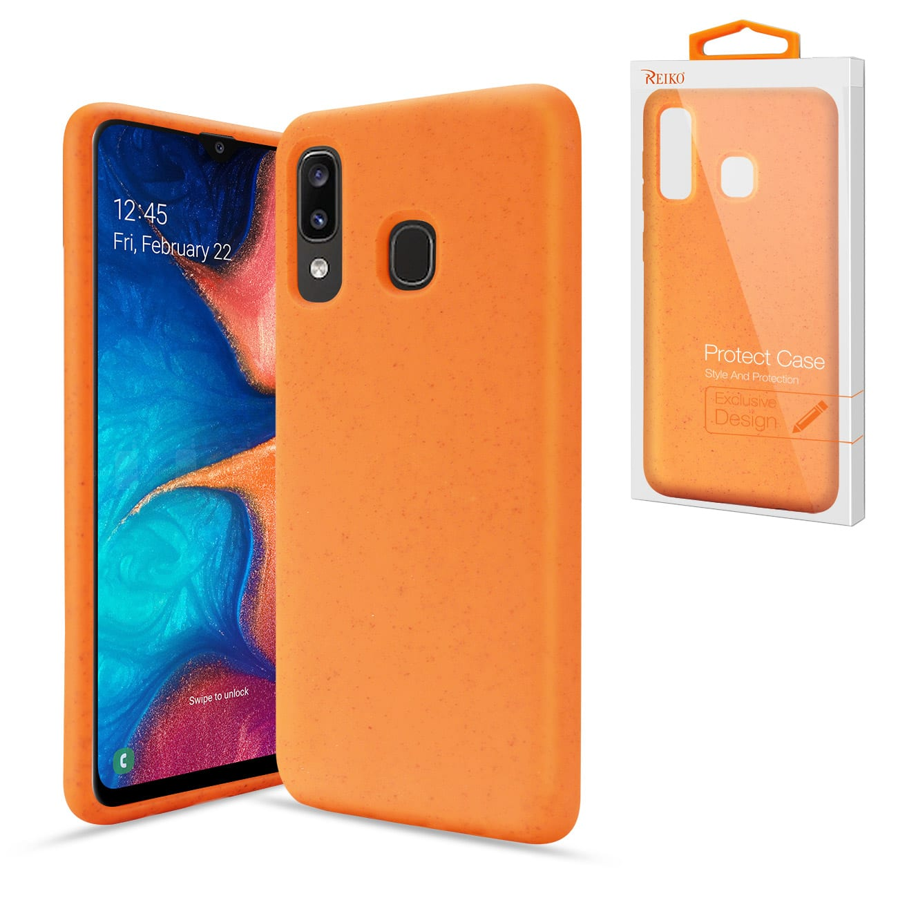 ISTIK SAMSUNG GALAXY A20 Wheat Bran Material Silicone Phone Case In Orange