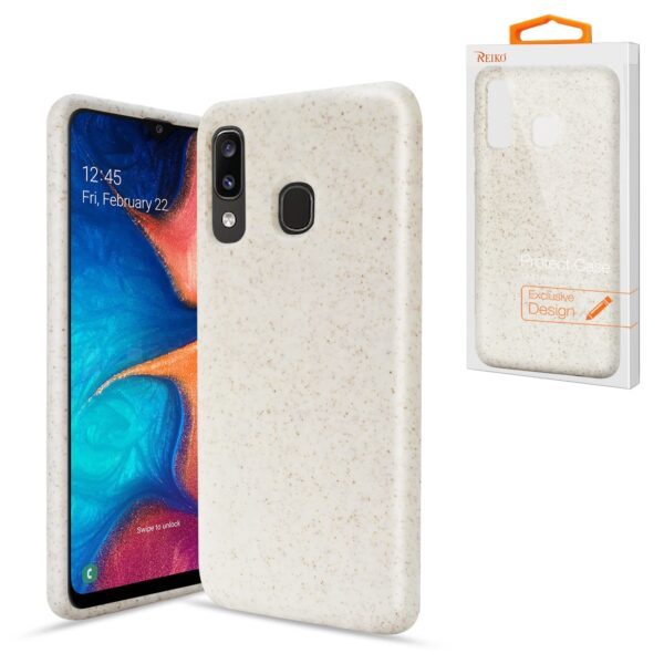 ISTIK SAMSUNG GALAXY A20 Wheat Bran Material Silicone Phone Case In White