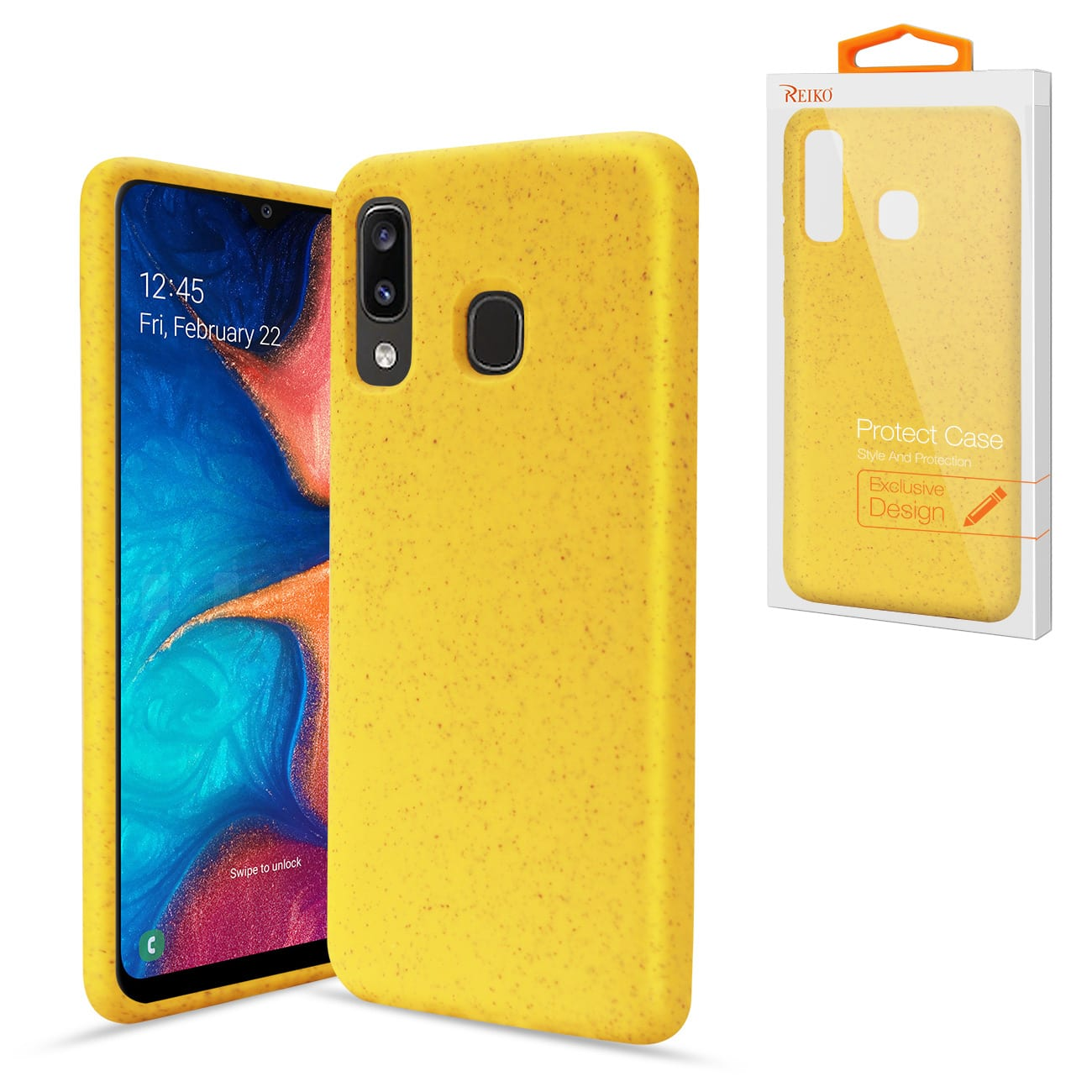 ISTIK SAMSUNG GALAXY A20 Wheat Bran Material Silicone Phone Case In Yellow