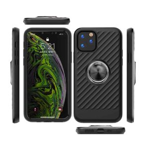 APPLE IPHONE 11 PRO MAX Case with Ring Holder InBlack