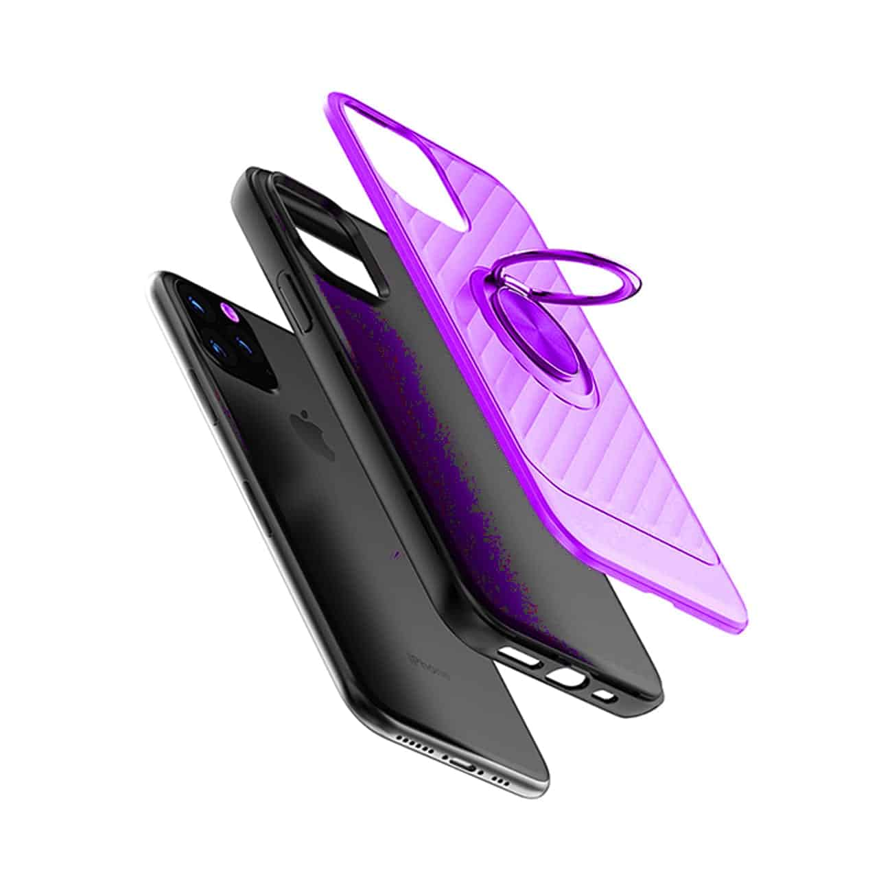 APPLE IPHONE 11 PRO MAX Case with Ring Holder InPurple