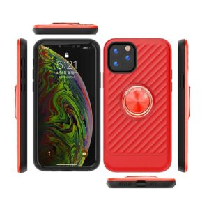 APPLE IPHONE 11 PRO MAX Case with Ring Holder InRed