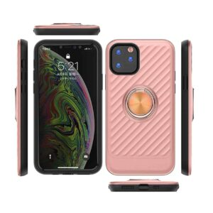 APPLE IPHONE 11 PRO MAX Case with Ring Holder InRose Gold