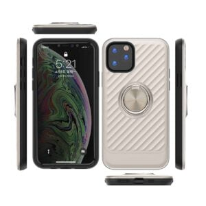 APPLE IPHONE 11 PRO MAX Case with Ring Holder InSilver