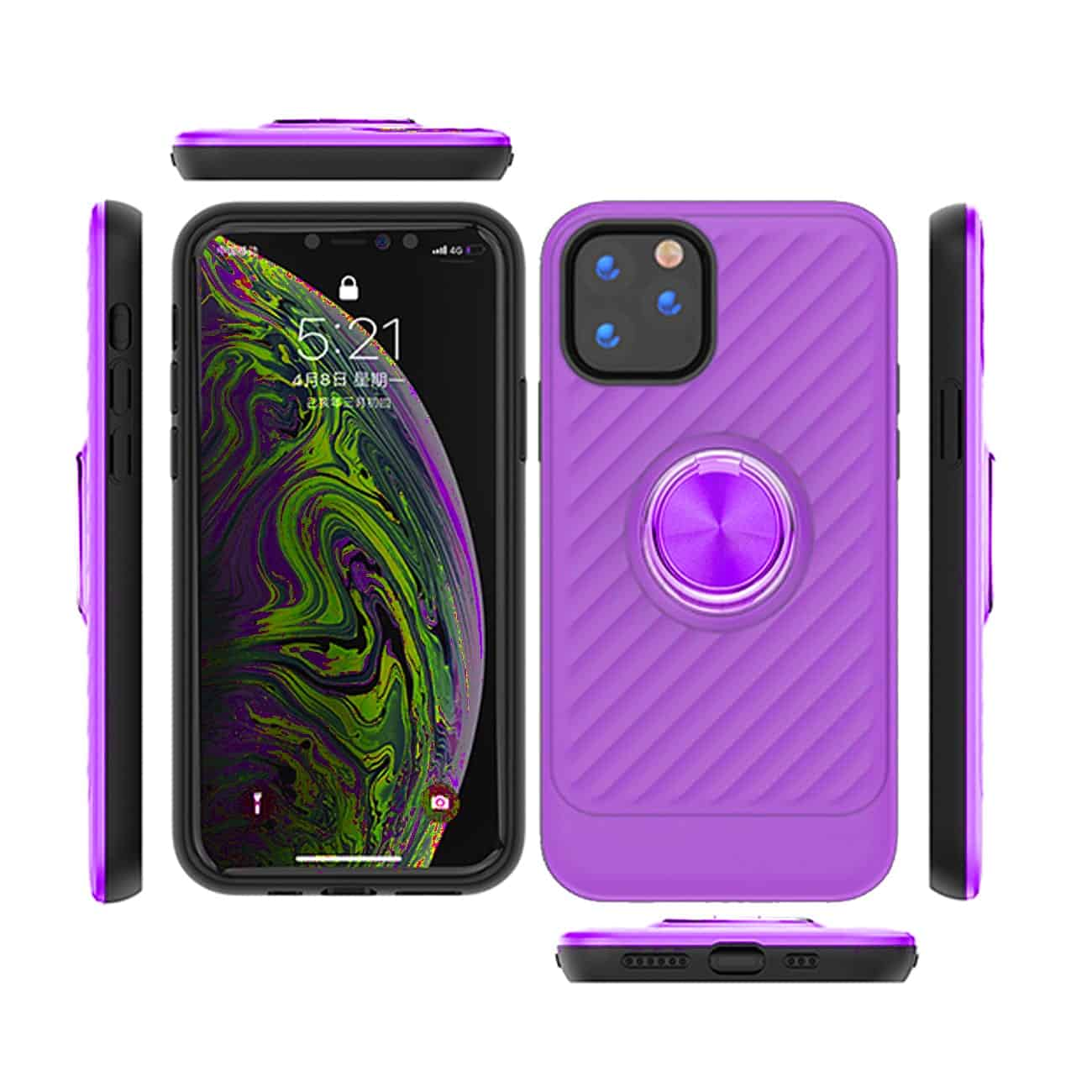 APPLE IPHONE 11 PRO Case with Ring Holder InPurple