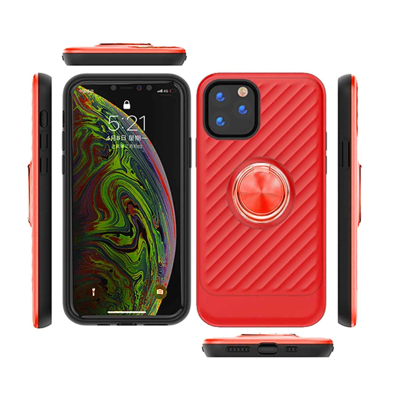 APPLE IPHONE 11 Case with Ring Holder InRed