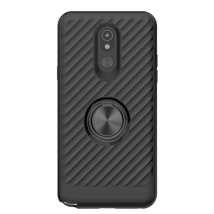 LG STYLO 5 Case with Ring Holder In Black