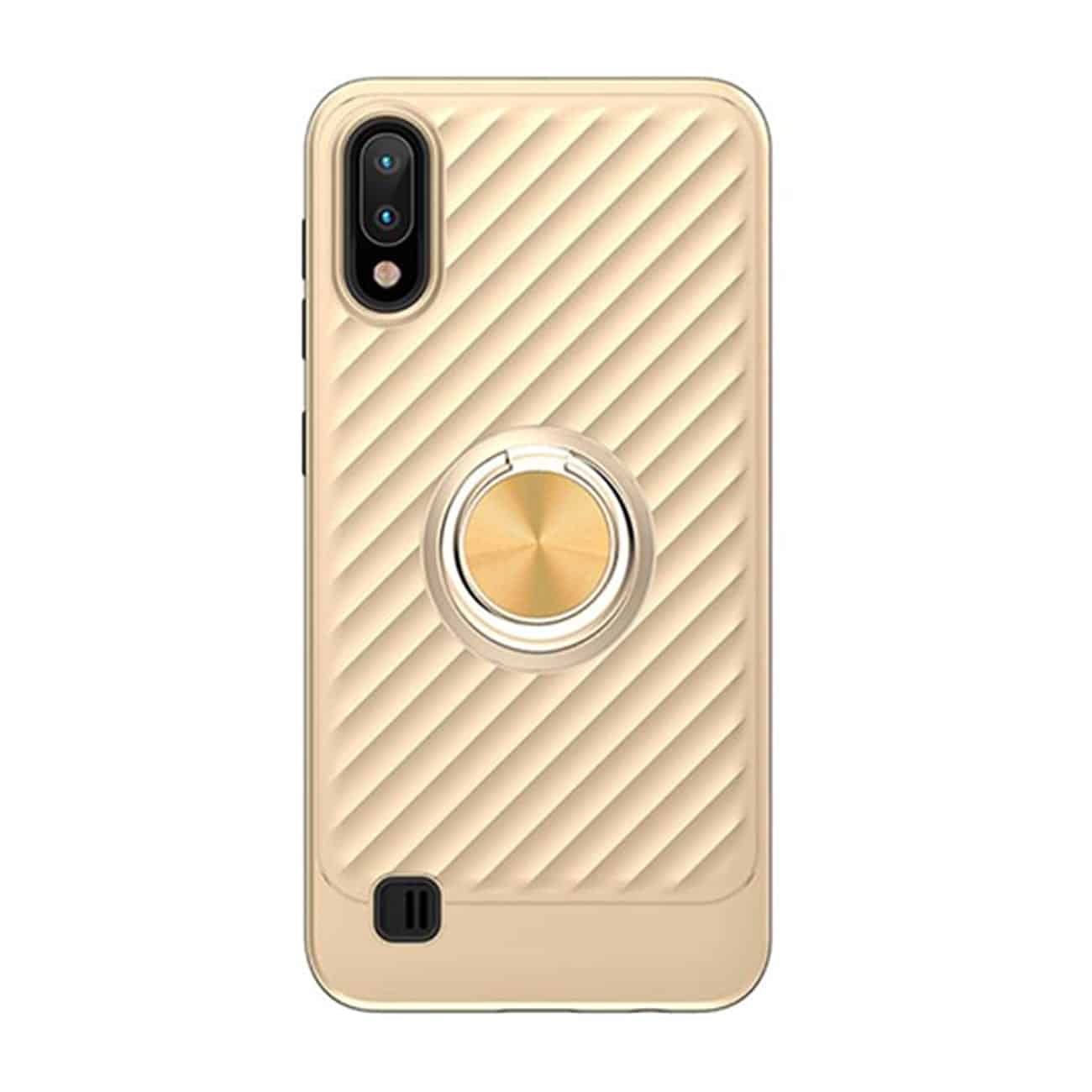 SAMSUNG GALAXY A10/M10 Case with Ring Holder In Gold