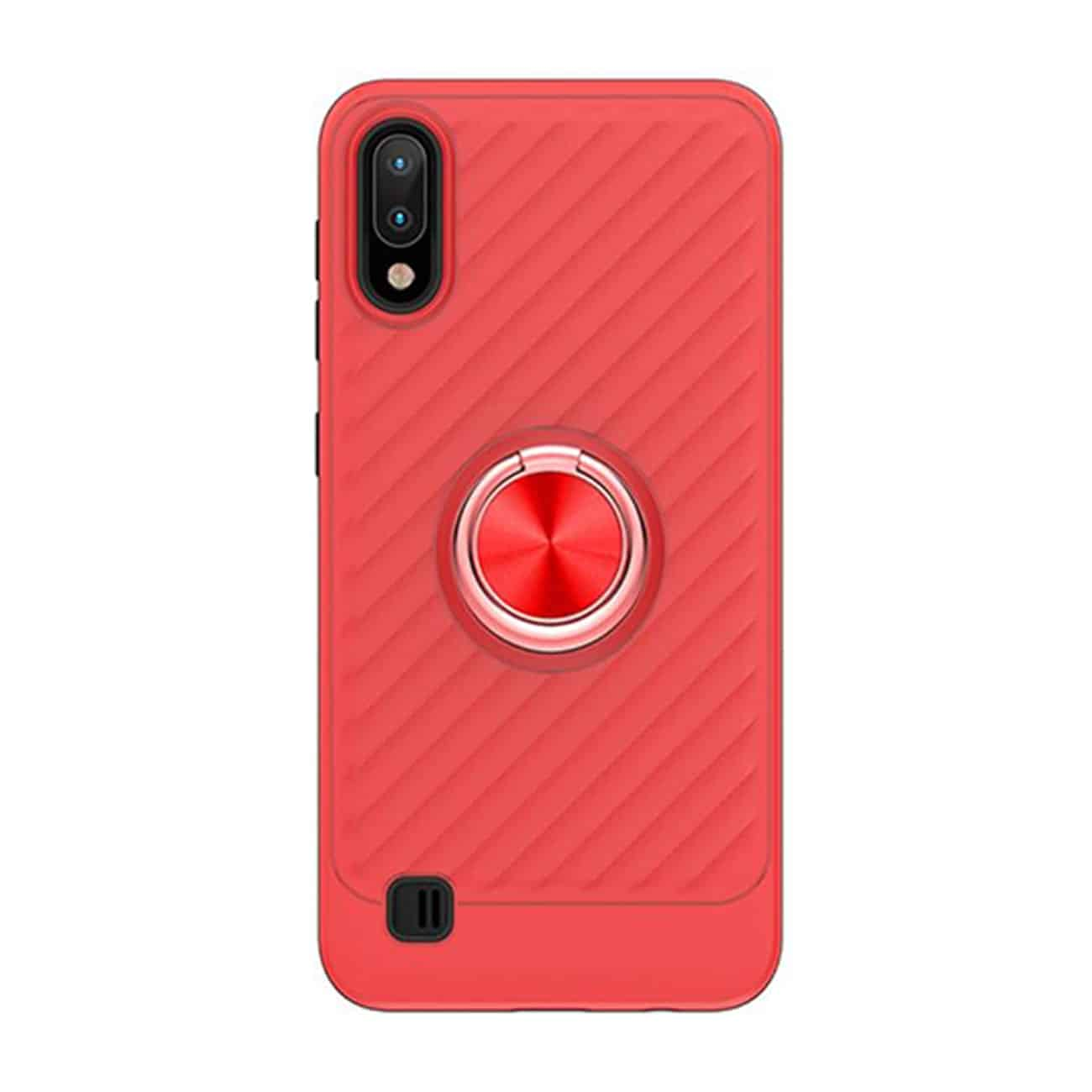 SAMSUNG GALAXY A10/M10 Case with Ring Holder In Red