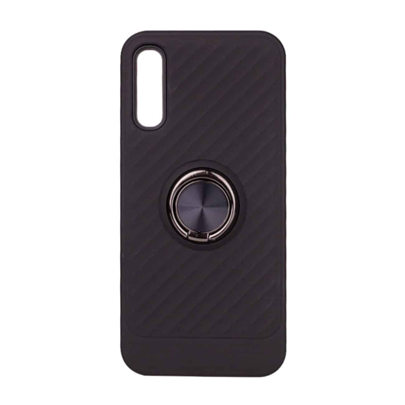 SAMSUNG GALAXY A70 Case with Ring Holder InBlack