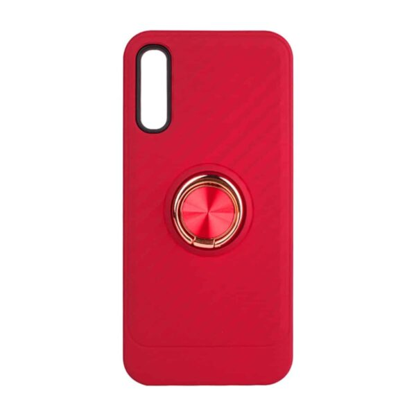 SAMSUNG GALAXY A70 Case with Ring Holder InRed