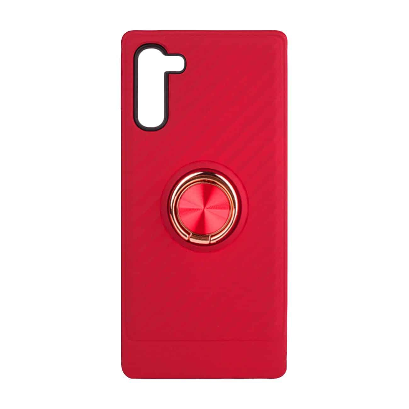 SAMSUNG GALAXY NOTE 10 Case with Ring Holder InRed