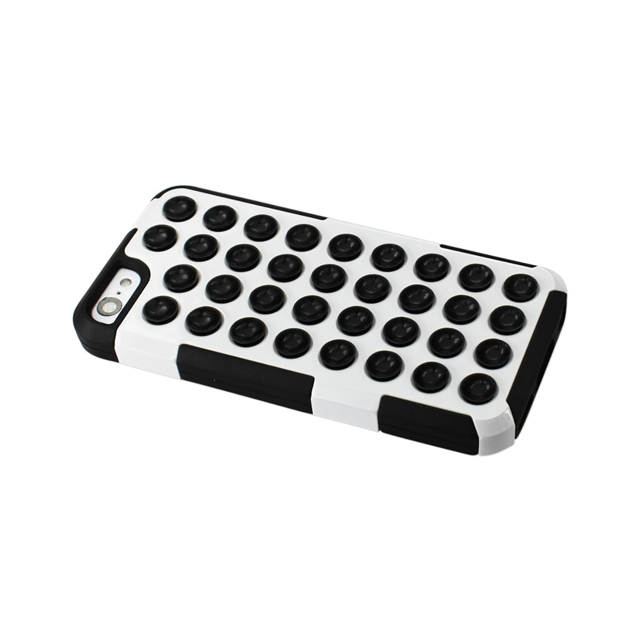 ISTIK IPHONE 5C HYBRID SUCTION DOT HOLES CASE IN BLACK WHITE
