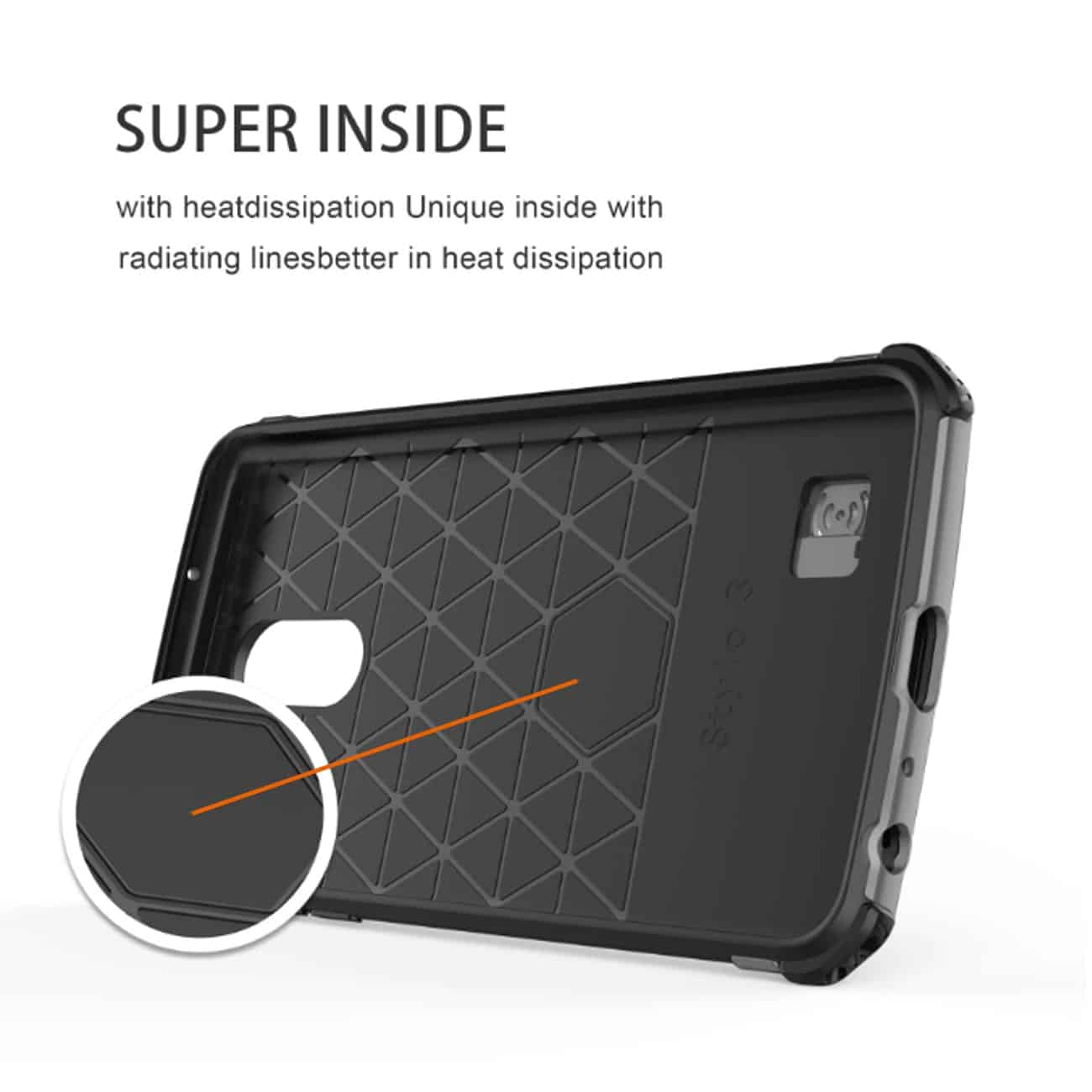 LG STYLO 4 Case With Kickstand In Black