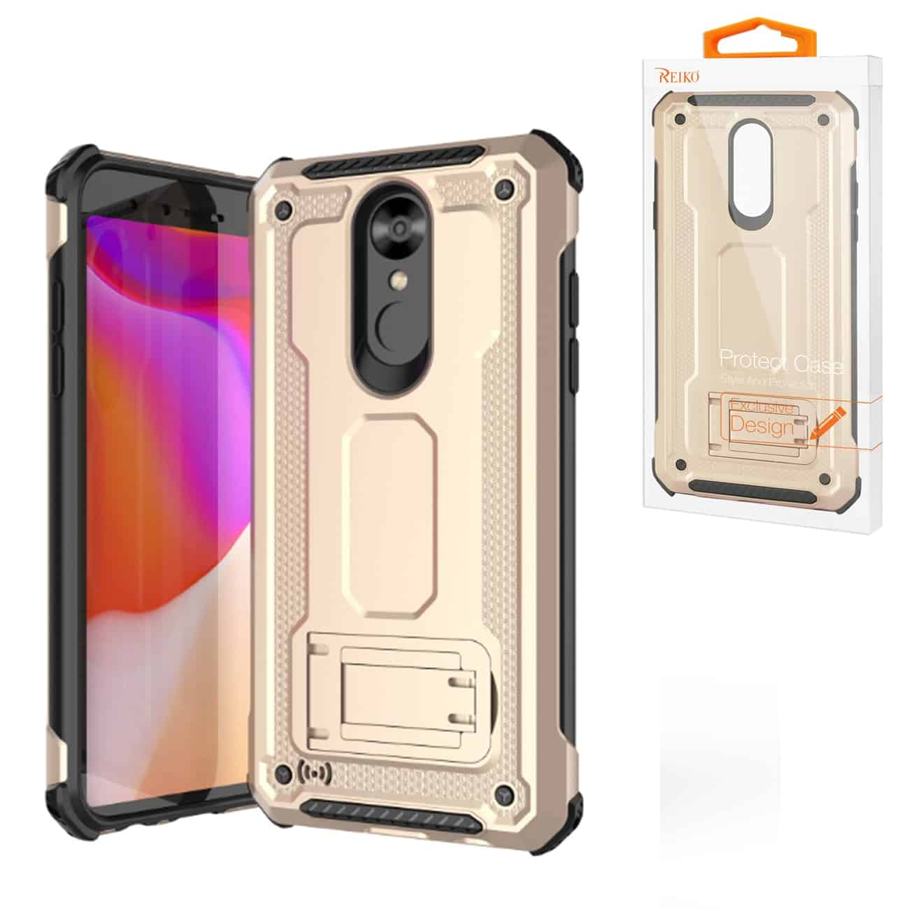 LG STYLO 4 Case With Kickstand In Gold