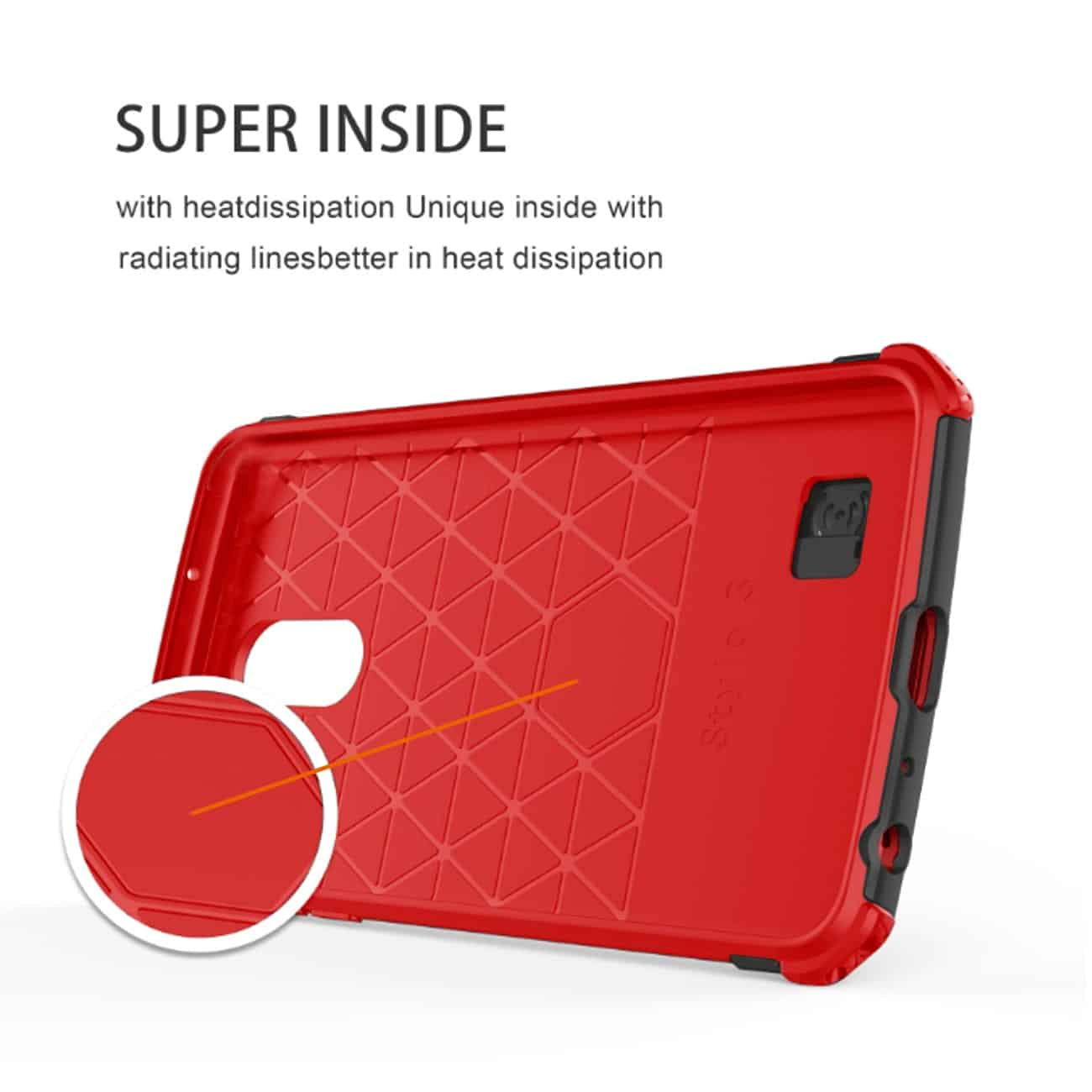 LG STYLO 4 Case With Kickstand In Red