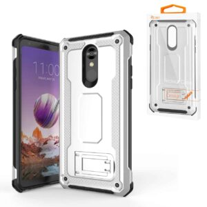 LG STYLO 4 Case With Kickstand In Silver