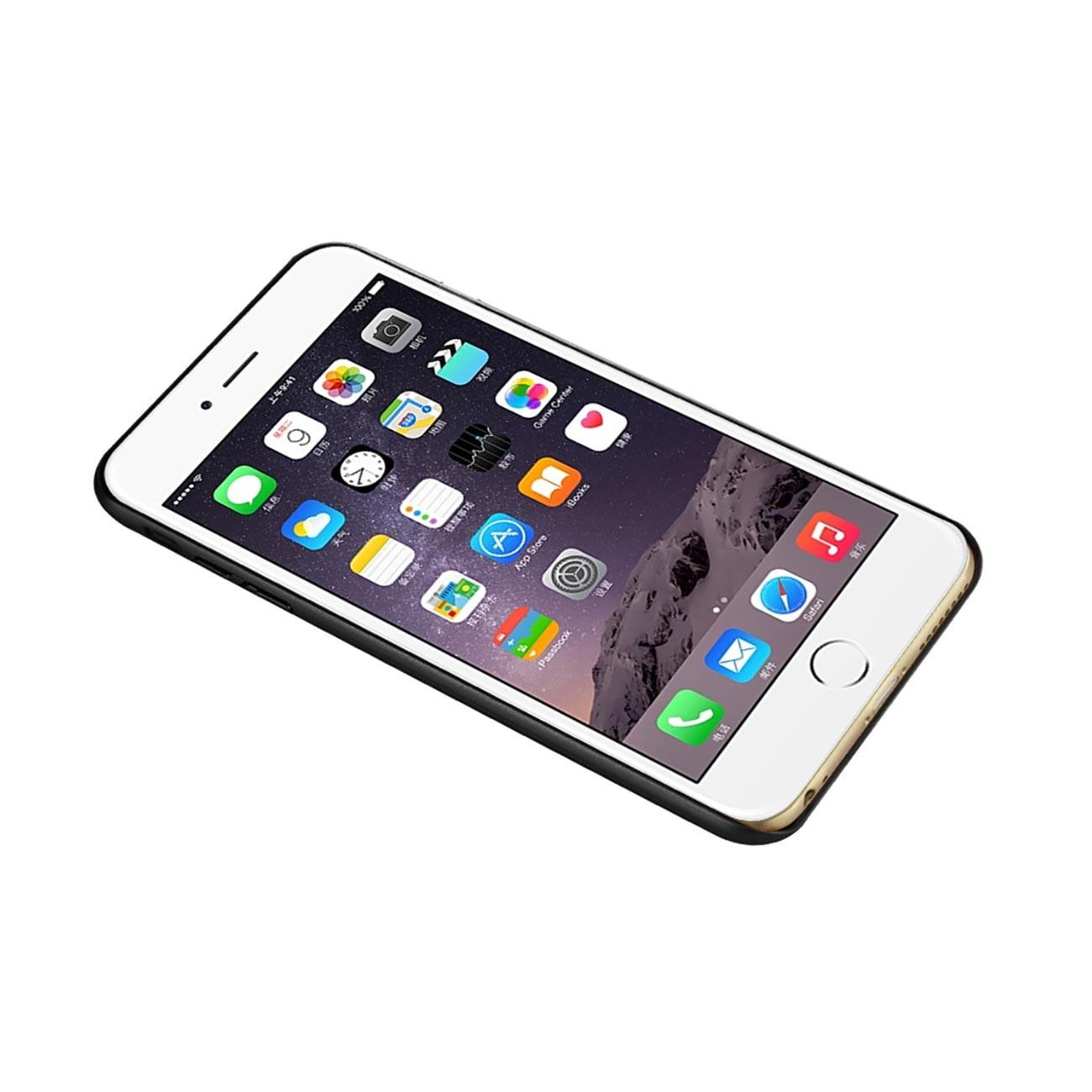ISTIK IPHONE 6 PLUS REAL WOOD SLIM SNAP ON CASE IN BLACK