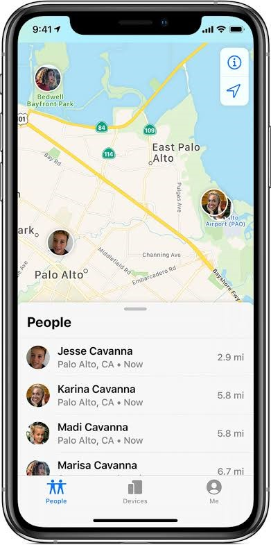 Track iPhone through Family Sharing