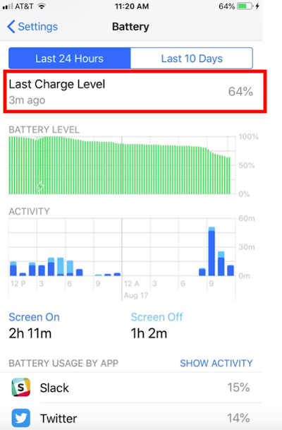 Check the Battery Percentage on Your iPhone: Last Charge Level'