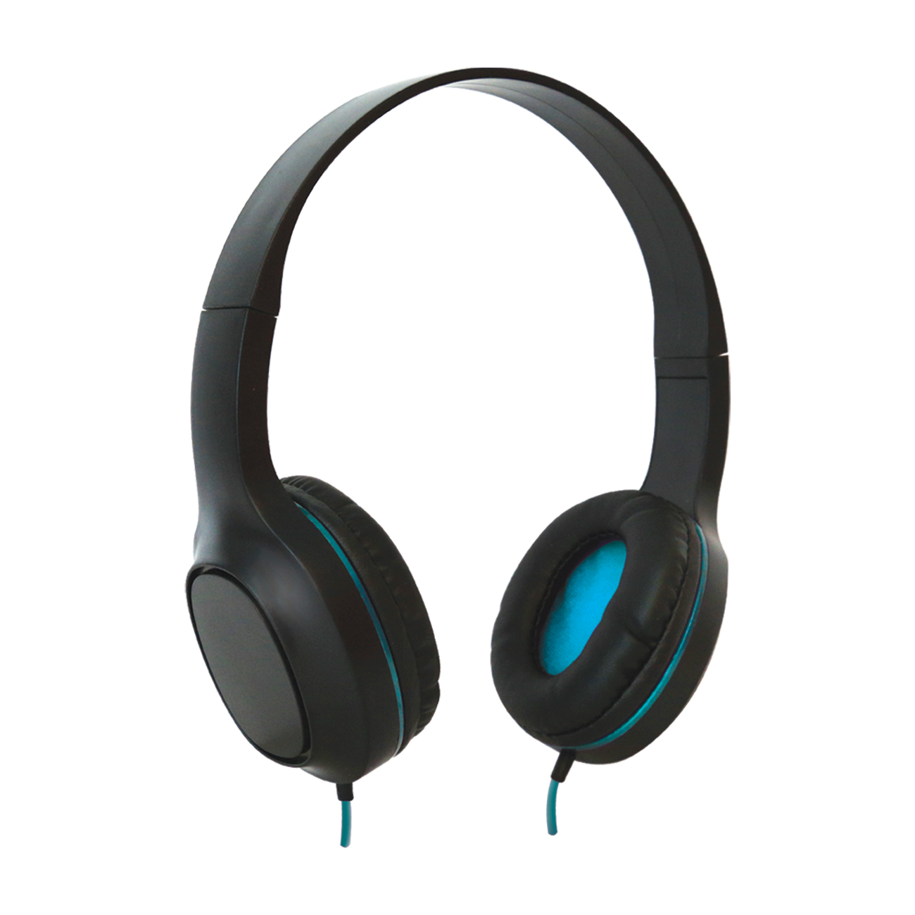 Sentry Industries DLX100: Tempo Stereo Headphone with MC In Blue
