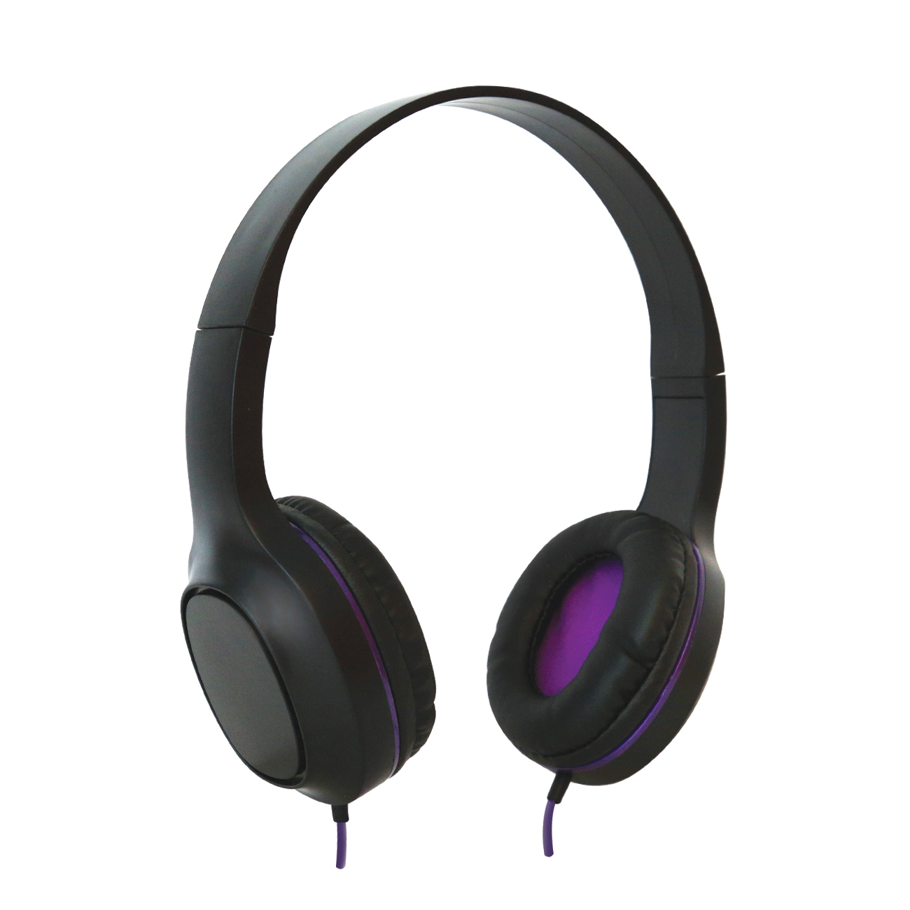 Sentry Industries DLX100: Tempo Stereo Headphone with MC In Purple