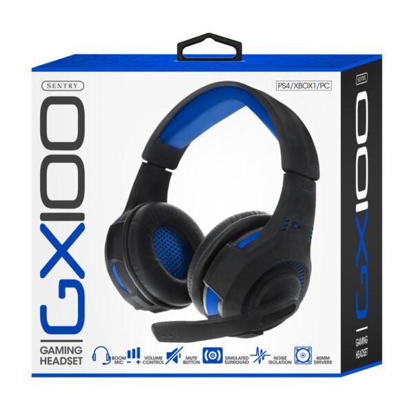 Sentry Industries GX100: Gaming Headset In Blue