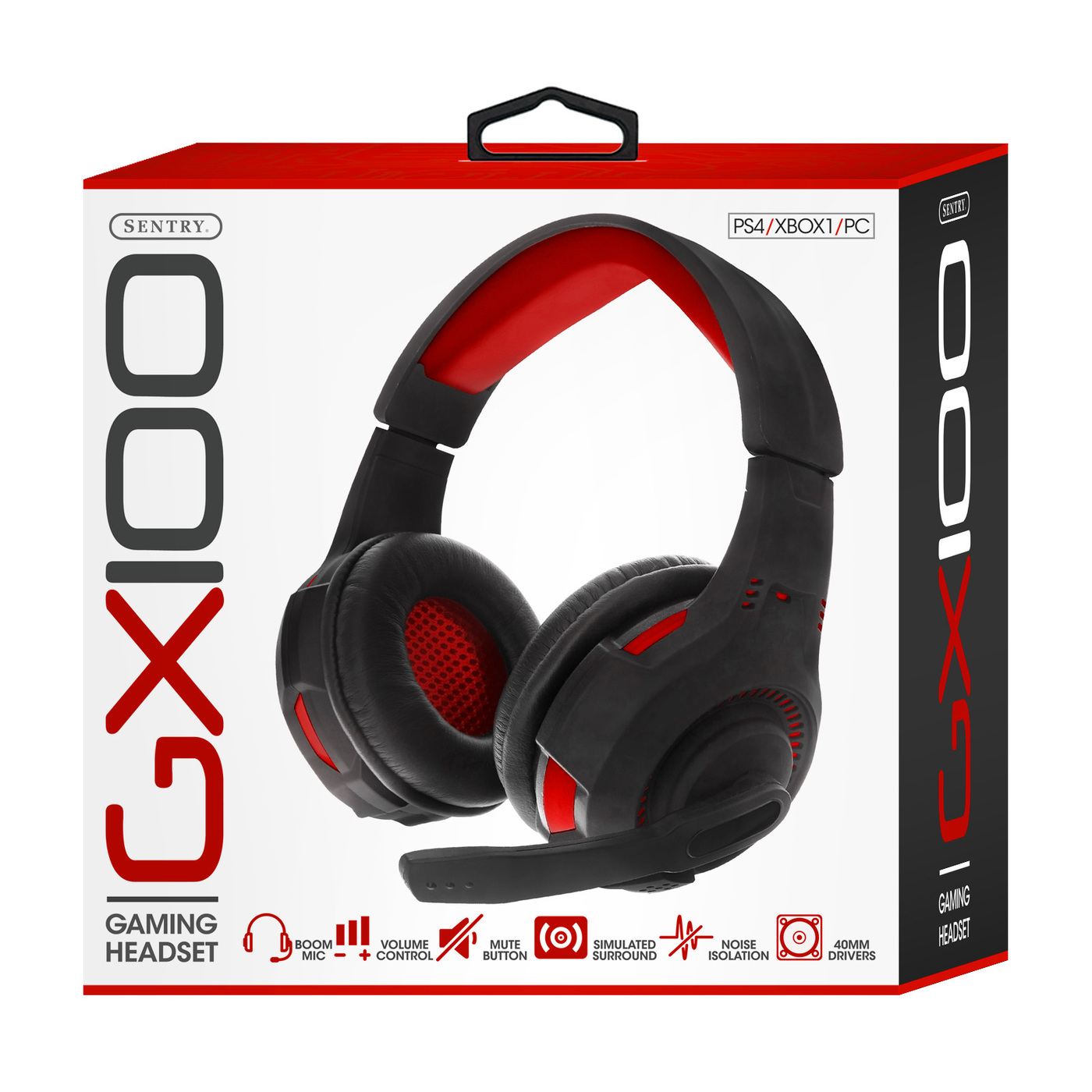 Sentry Industries GX100: Gaming Headset In Red