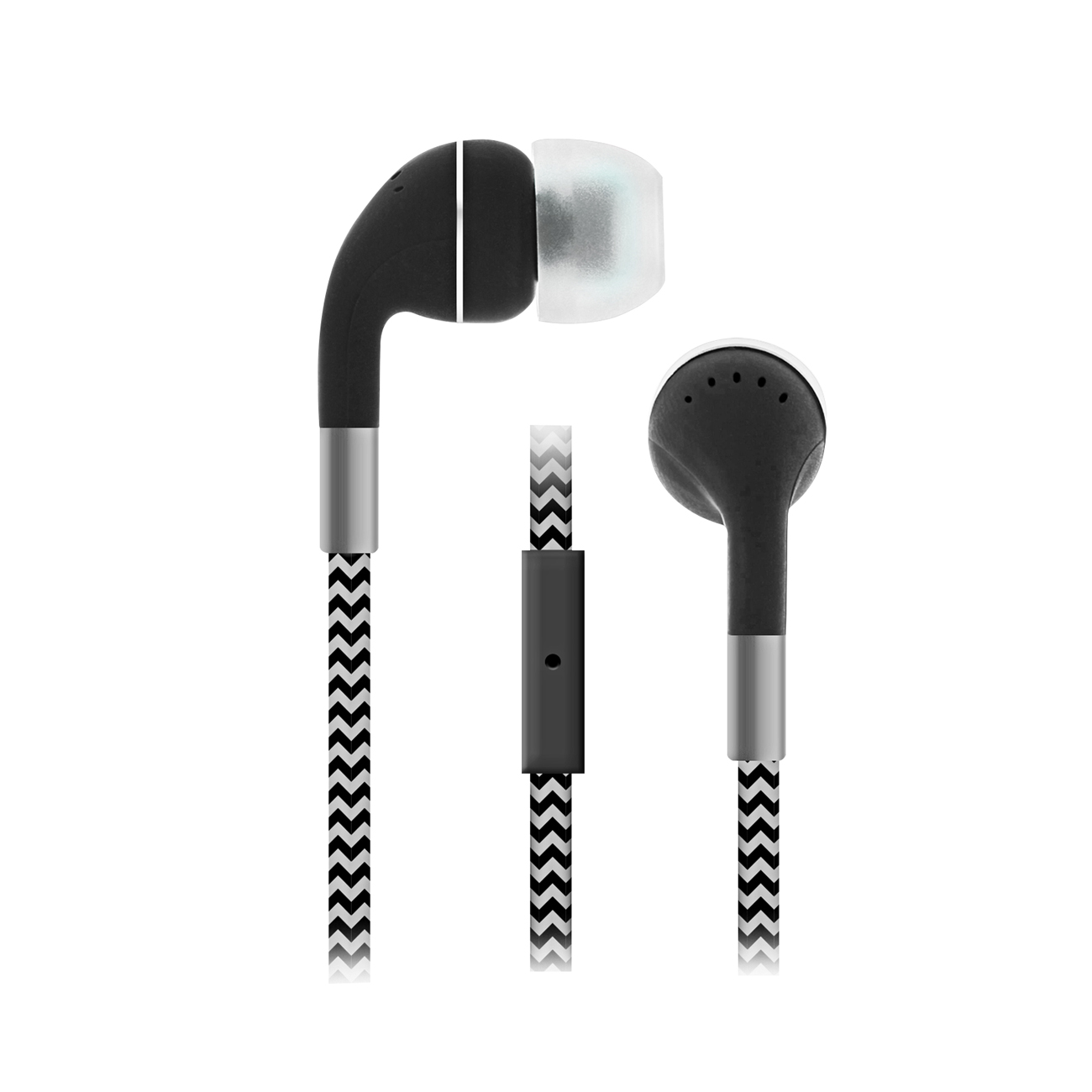 Sentry Industries HM650: Cord Plus Stereo Earbuds with in-line Mic In Black