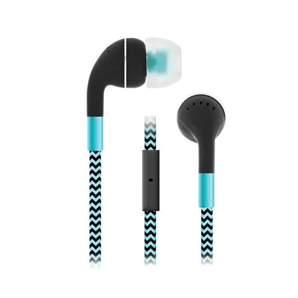 Sentry Industries HM650: Cord Plus Stereo Earbuds with in-line Mic In Blue