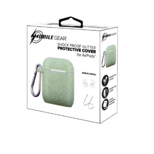 Mobile Gear Sparkling Silicone Airpods Cover Case Mint Green