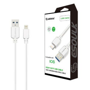 Esoulk 10ft Round Cable For 8 PIN 2A In White