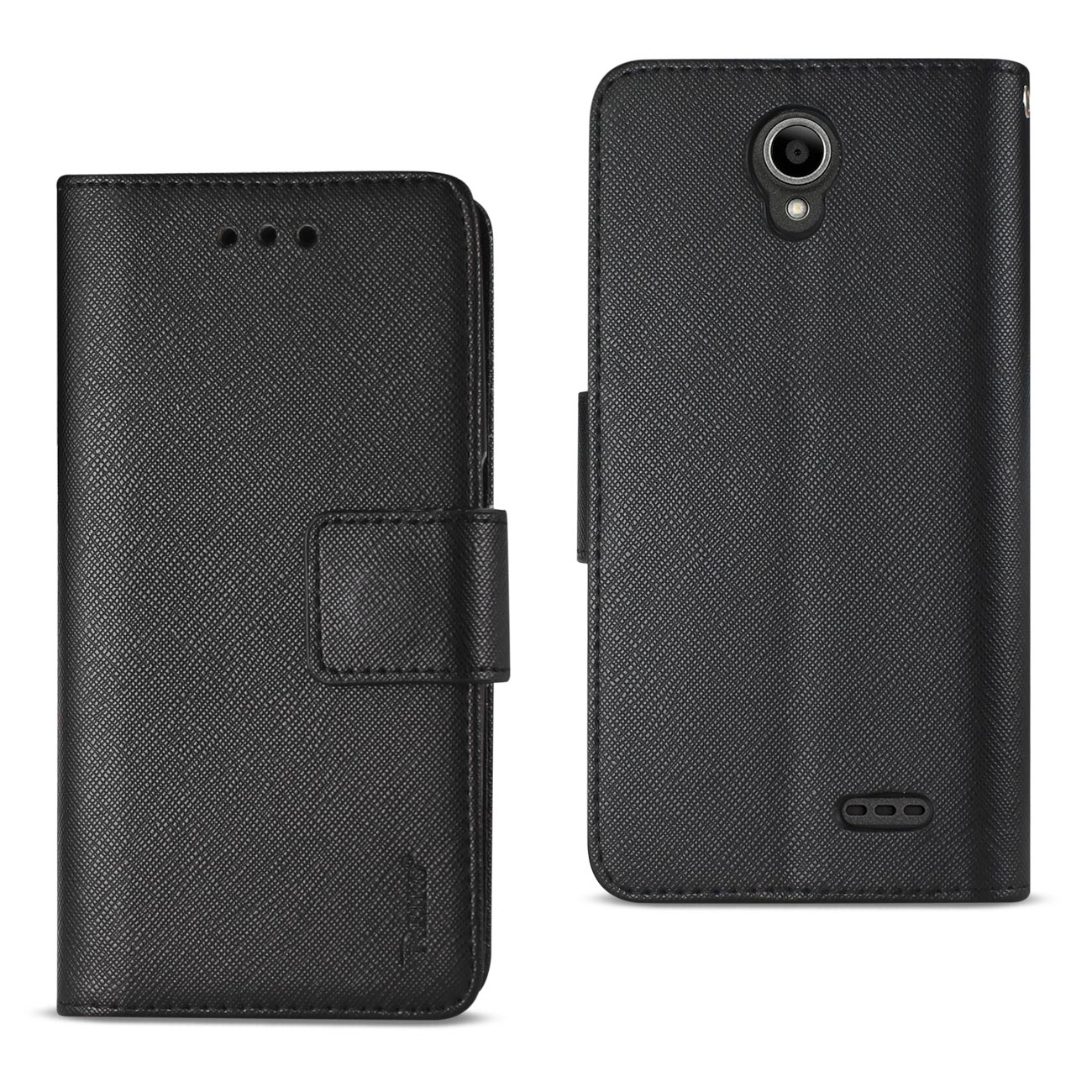 ZTE OVERTURE 3/ MAVEN 3/ PRESTIGE 2/ N9136 3-IN-1 WALLET CASE IN BLACK