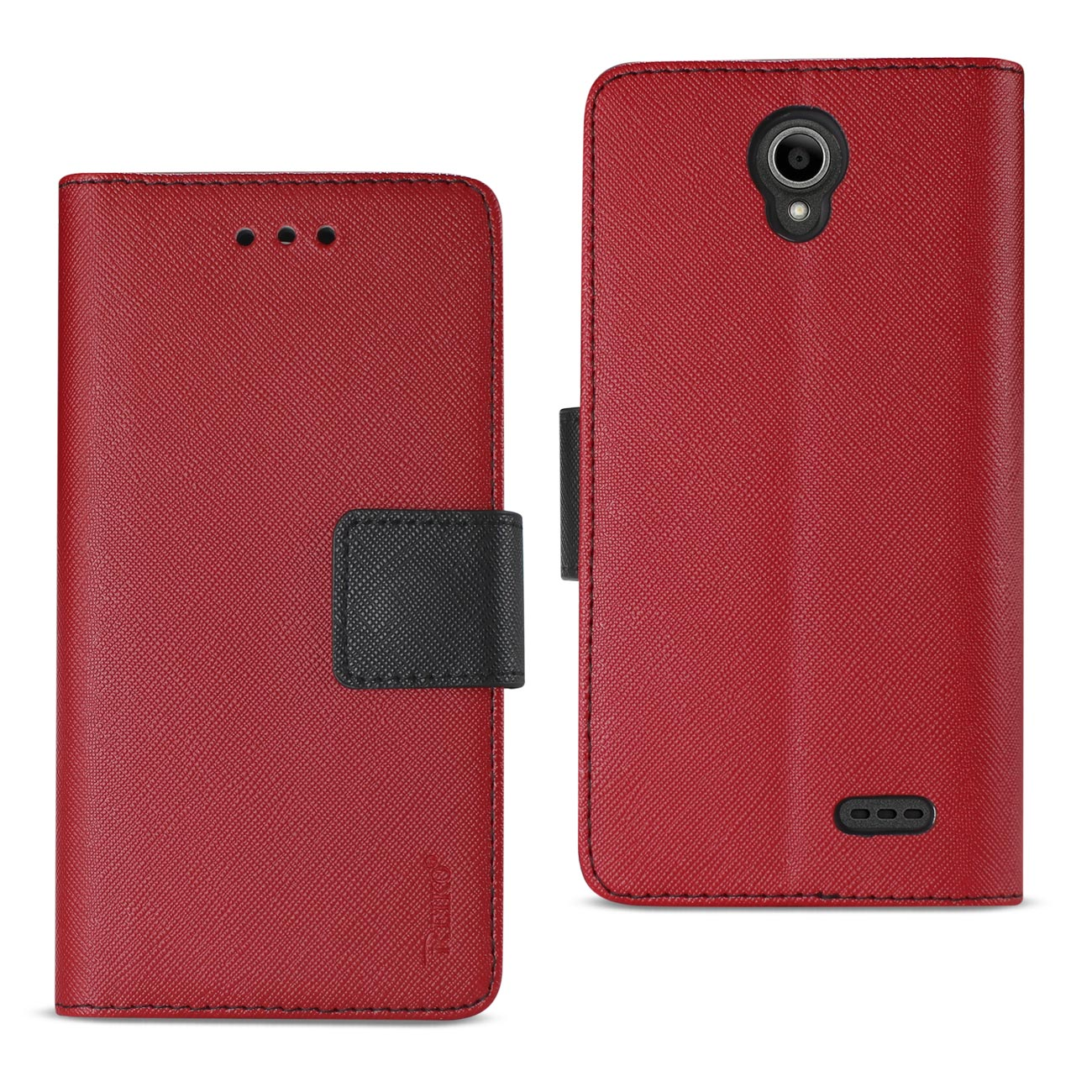 ZTE OVERTURE 3/ MAVEN 3/ PRESTIGE 2/ N9136 3-IN-1 WALLET CASE IN RED