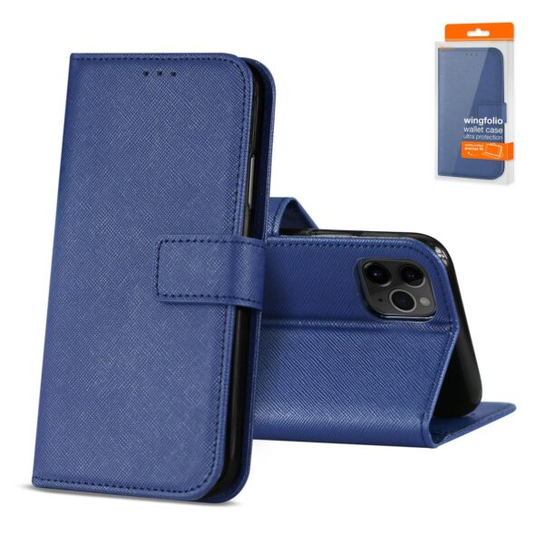 Reiko APPLE IPHONE 11 PRO MAX 3-In-1 Wallet Case In BLUE