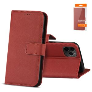 Reiko APPLE IPHONE 11 PRO MAX 3-In-1 Wallet Case In RED