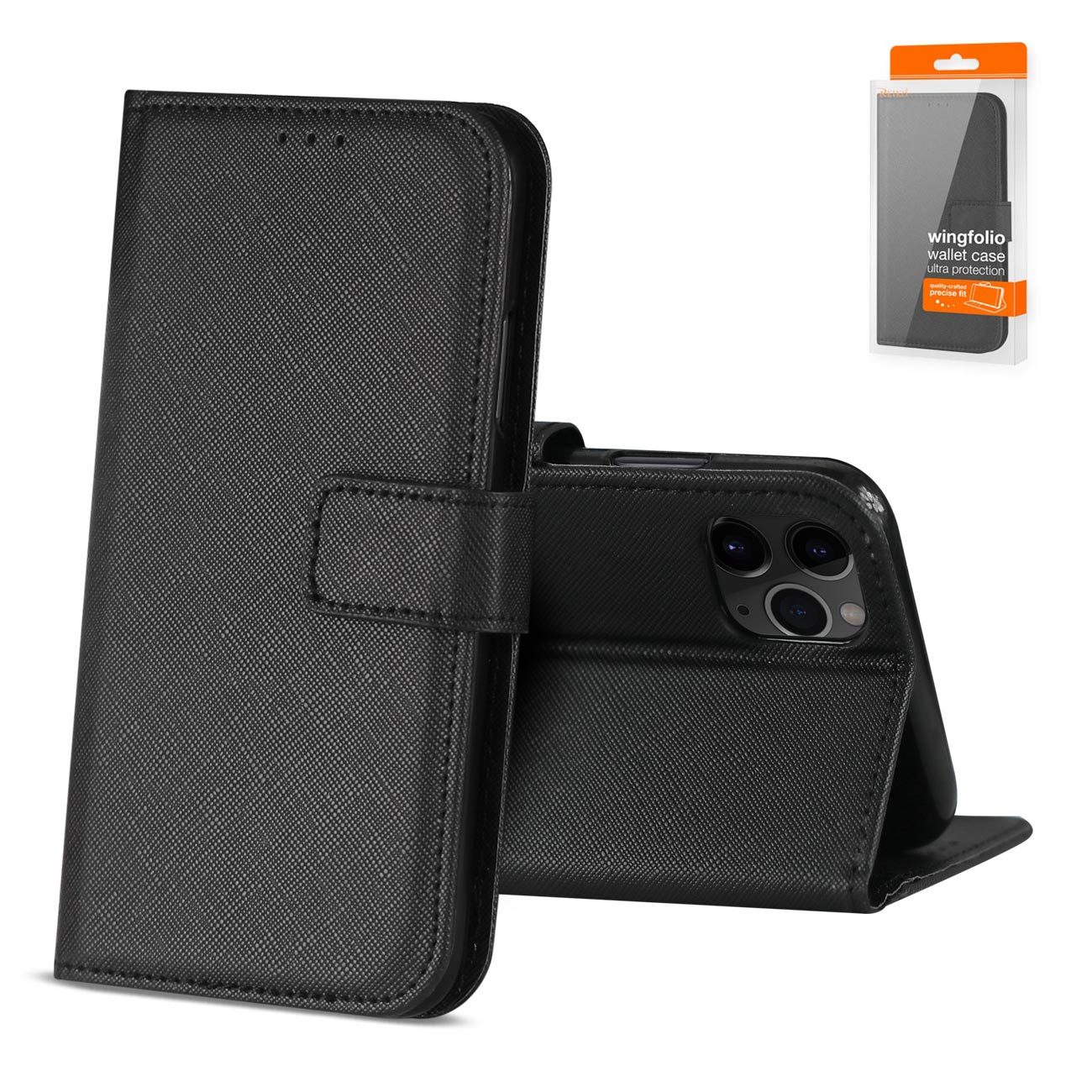 APPLE IPHONE 11 PRO 3-In-1 Wallet Case In BLACK