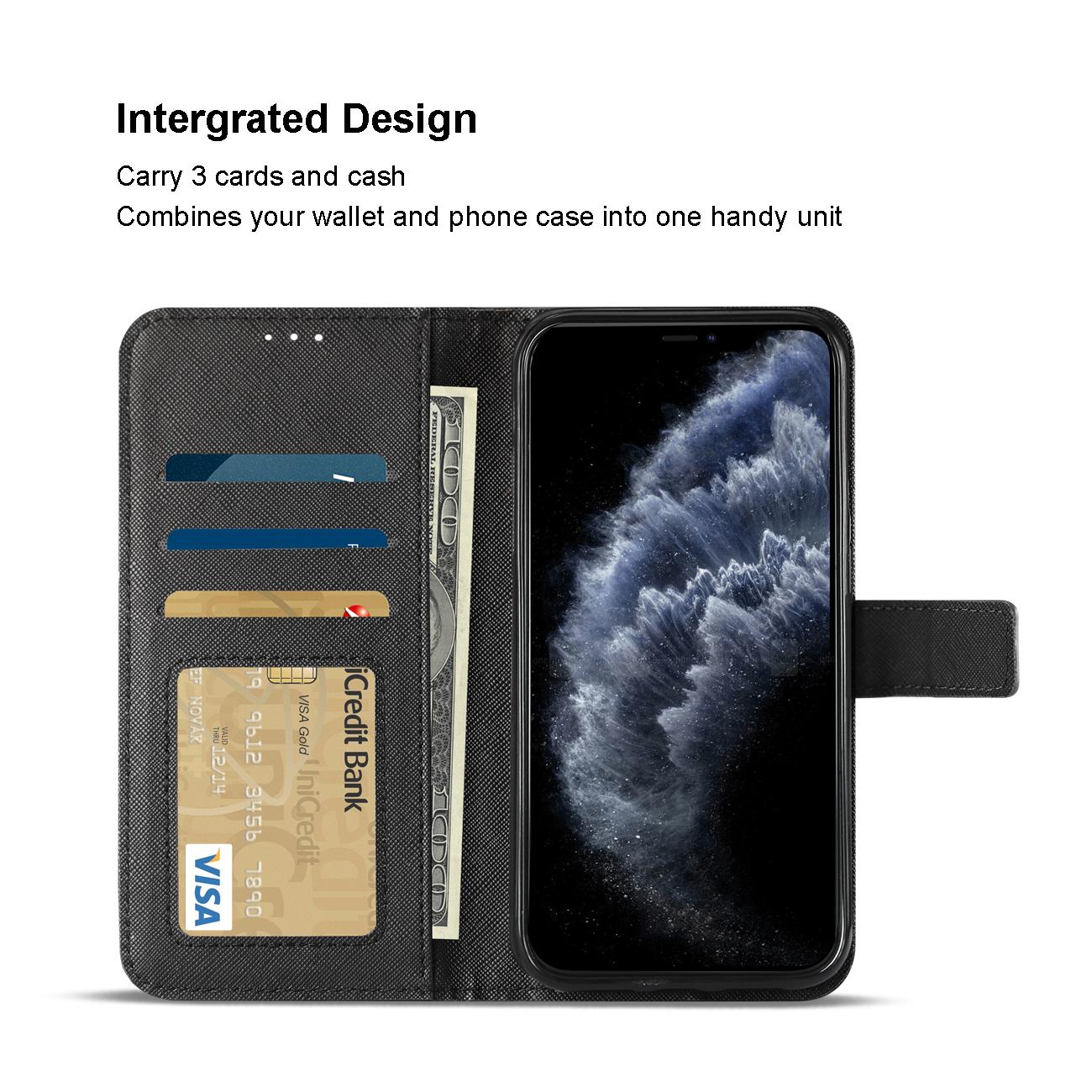 APPLE IPHONE 11 PRO 3-In-1 Wallet Case In BLACK